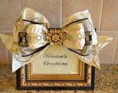 Elegant Black And Gold Rhinestone Frame