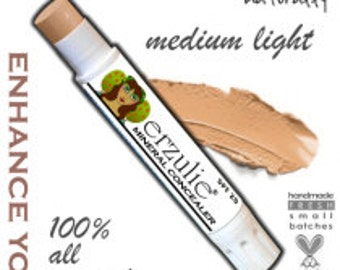 All Natural Mineral Concealer In MEDIUM LIGHT  Non-Comedogenic Makeup Acne Safe Makeup  Extra Coverage