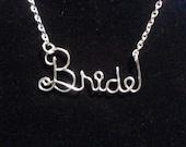 Silver Wire BRIDE Necklace