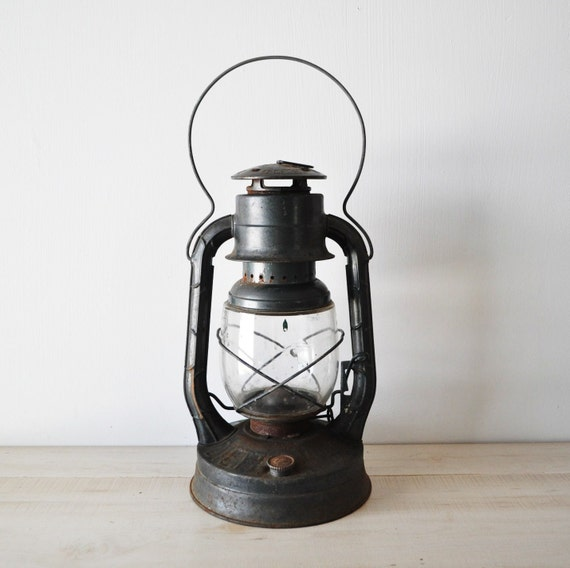 RESERVED for DRC---vintage black Dietz oil lantern