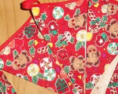 Christmas  cotton fabric bunting banner holiday decoration gingerbread men