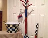 Painted Coat Tree // Painted Coat Rack // Custom Clothes Rack