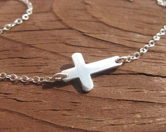 Teeny Weeny Cross Choker