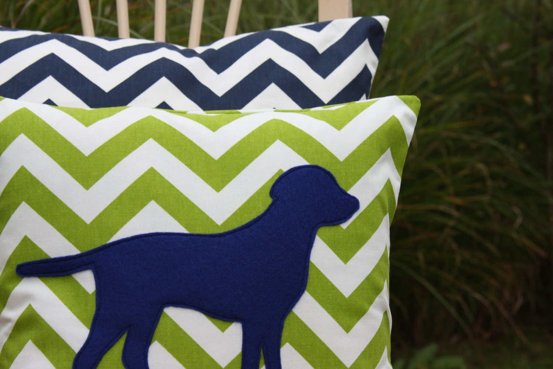 Modern Green Pillow Cover : Modern Chevron Green Puppy Pillow Cover Logan by nest2impress