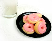 Half Dozen - Pink Frosted - Mini Donut Soap 6-pack
