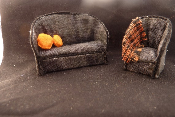 Quarter Scale Halloween Sofa and Chair