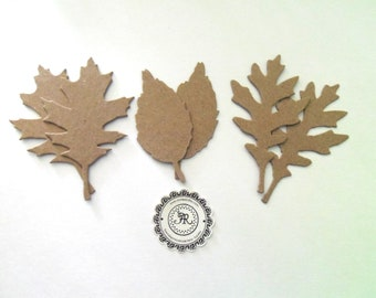 Tattered Leaves, Chipboard Die Cuts by Tim Holtz NEW 144 Fall Leaves, Foilage Heavyweight Chipboard Store Quality Set 6 pcs