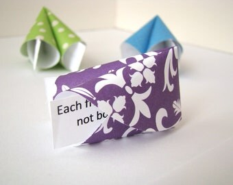 Origami Fortune Cookies - Multi Colored - Set of 10