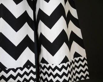 Samurai PANTS - Riley Blake - Black and White Chevron - Made in ANY Size - Boutique Mia