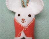 Little Star Mouse, handmade felt ornament