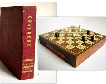 Vintage Druekes Checkers Travel Set