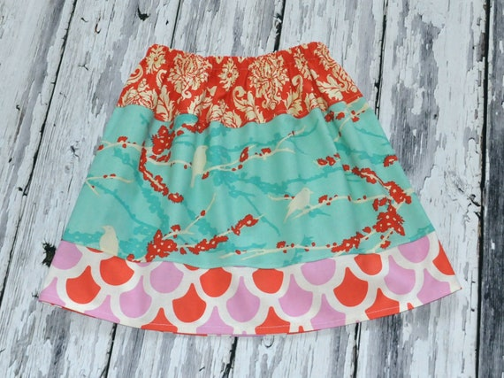 Ready to Ship Sale - Sz 5/6/7 - Layered Sparrow Skirt - Back to School