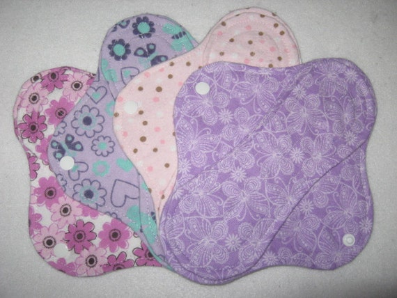 Cloth panty liners set of four 8 inch