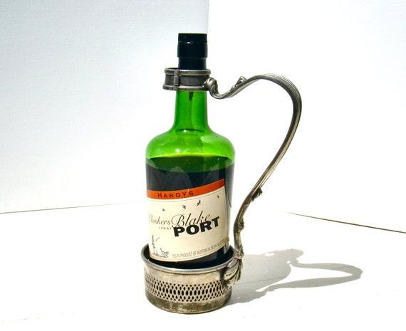 Vintage Raimond Silver Plate Wine Bottle Holder / Pour Handle