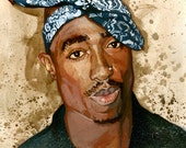 Tupac - 11 x 11 Print SIGNED EDITION