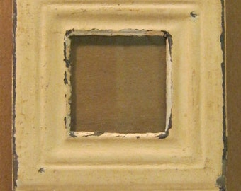 AUTHENTIC Tin Ceiling Triple Three Picture Frame RECLAIMED Photo S692-12