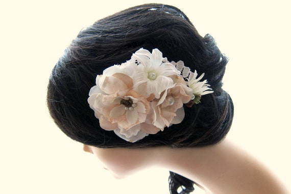 Bridal Wedding Hair Flower Comb - Kate