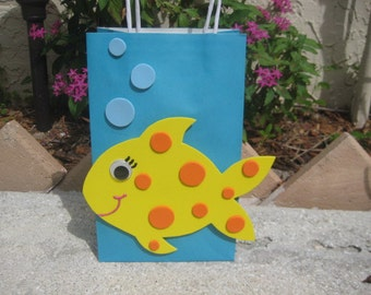 Fish Birthday Party Favor Bag