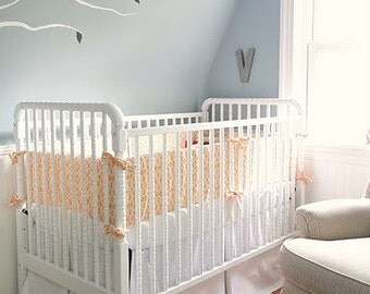 "Custom Crib Skirt, 19""-23"" drop - Choose your fabric"