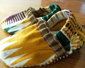 African Kente Print Baby Booties  Size 6-9 months