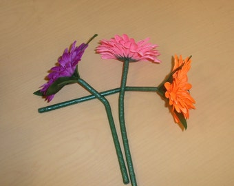 SIX VW bug Flowers for the Vase in the Dash