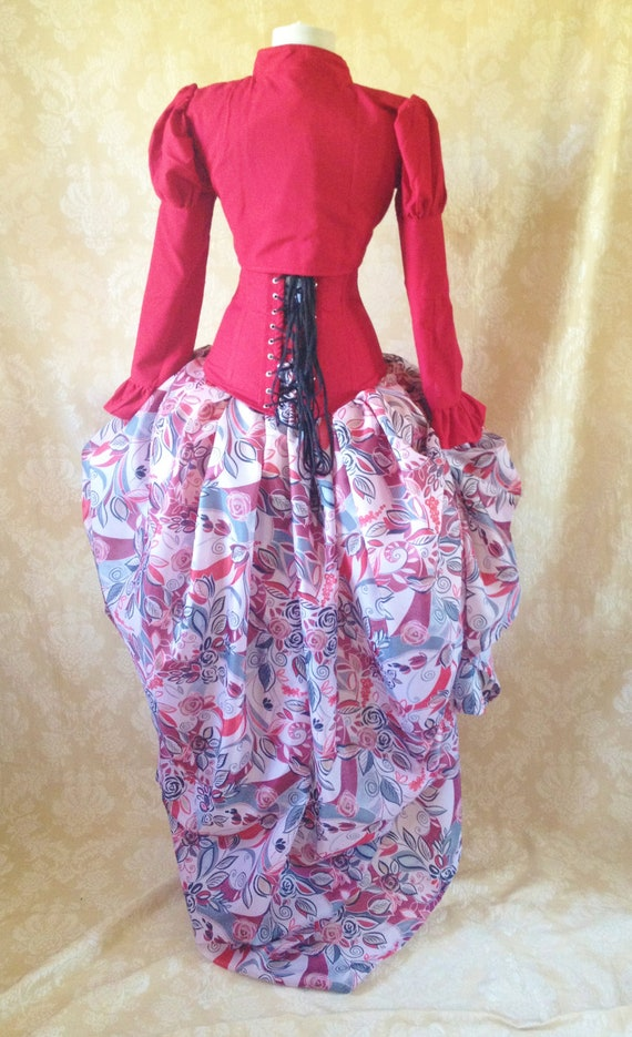 Fantail Autumn Red Riding Tie On Bustle Skirt-One Size Fits All