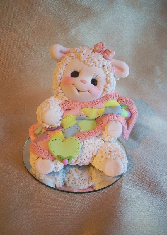 Items similar to lamb sheep baby shower cake topper ...