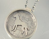 I Love My Great Dane Sterling Necklace