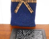Kindle Ebook Reader Cover Eco Friendly Recycled Wool Sweater Pouch