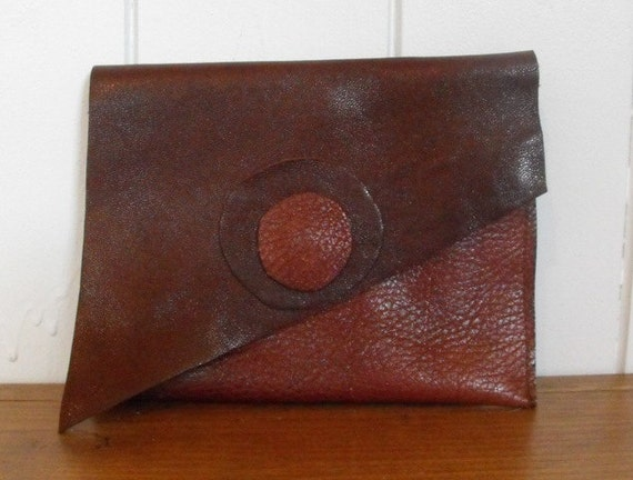 Recycled  Simple Leather Wallet Card Holder Clutch