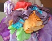 """Play Silk - 6 Large Rainbow Playsilk Set / Waldorf Toy -  22"""" Square  Playsilk"""