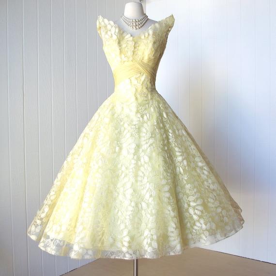 Vintage 1950 S Dress Most Exquisite Ceil Chapman Lemon