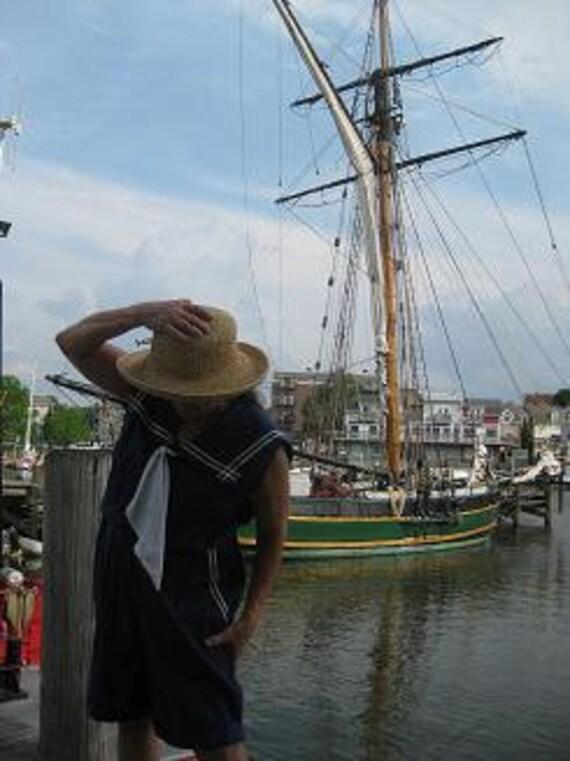 Vintage Nautical Romper