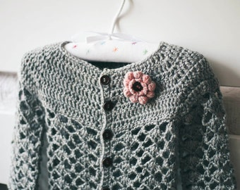 Crochet PATTERN - Sweet Little Cardigan (baby and toddler sizes)