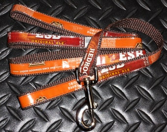 Dog Leash from Recycled Redhook ESB Beer Labels