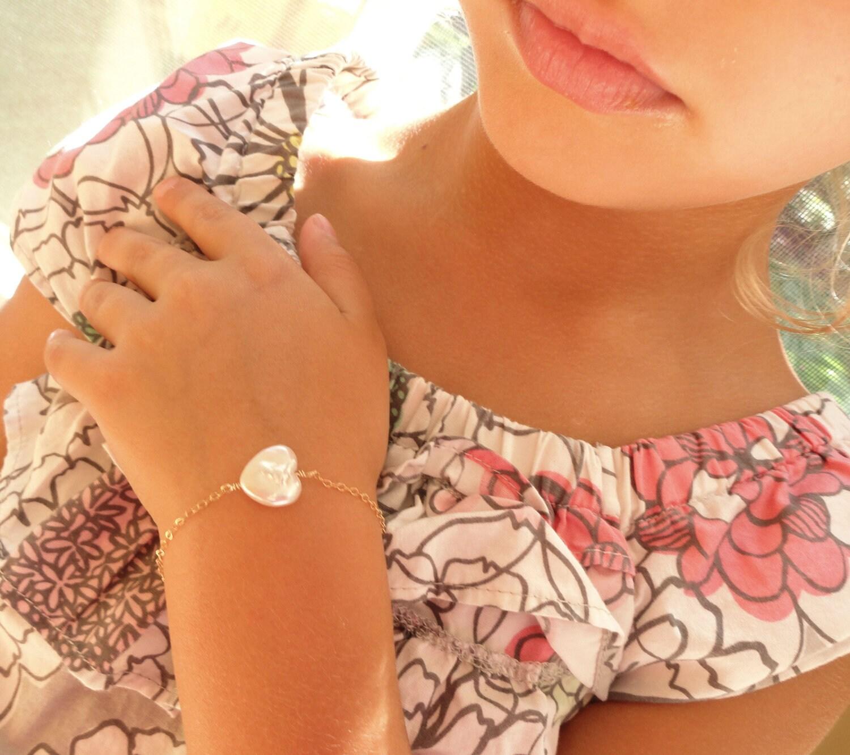Flower girl t idea childrens jewelry childs bracelet