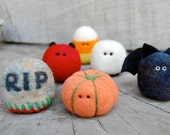 Teeny Tiny Little Needle Felted Halloween Set