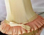 Pleated Pink Ruffles Boudoir Lamp Shade