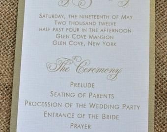 100 Vintage Mounted Wedding Programs