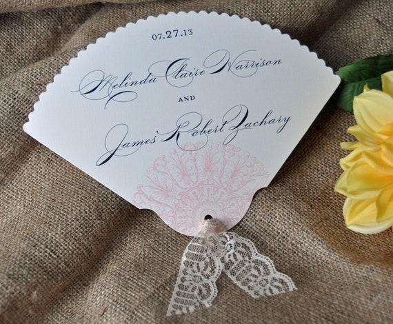100 Vintage Scalloped Wedding Favor Fans