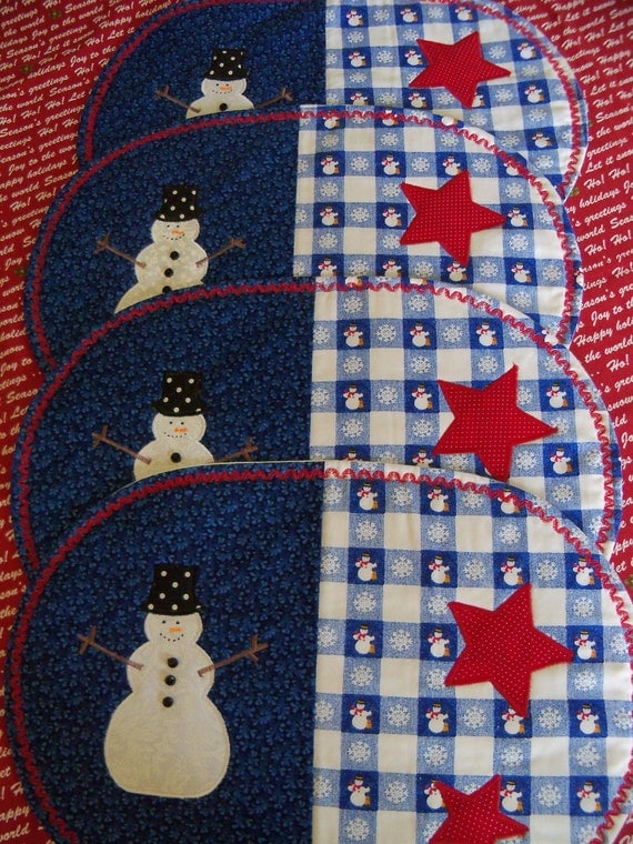 Special Listing for Ashley Snowman Table Place Mats