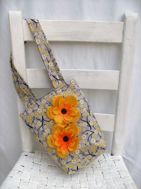 Yellow Cherry Blossom Girls Tote