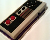 Video Game Controller Zippered Wallet in Purple