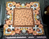 Large Throw Pillow Cover, Floral Print, OOAK