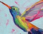 Hummingbird  - Bird Art - Paper - Canvas - Wood Block - Giclee Print