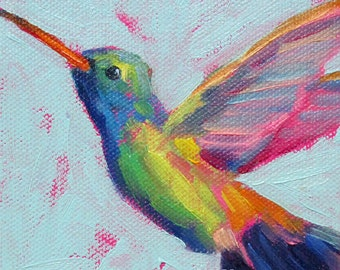 Hummingbird  - Bird Art - Giclee Print