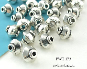 7mm Small Spacer Beads Pewter, Top, Antique Silver (PWT 173) 20 pcs BlueEchoBeads