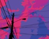 Infinite Summer Pixel Art Print