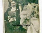 MONEY-MATCH - COUPLE- 1903  Humour  Fench photo Postcard