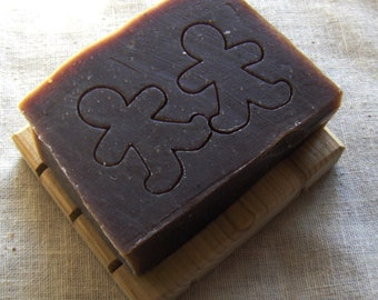 Gingerbread Man Soap - Hand stamped Natural Soap - Handmade - Vegan Soap - Christmas soap - Stocking stuffer soap